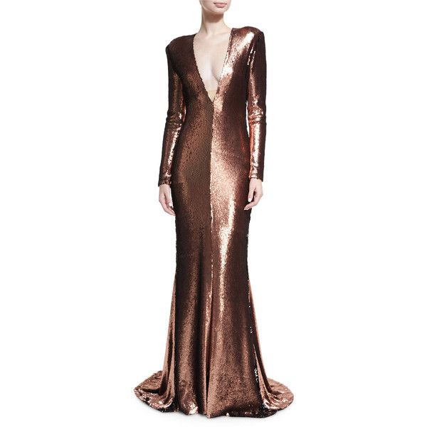 1e4a8df477 Copper V Neck Gown Other dresses dressesss