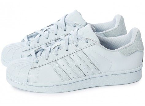 Chaussures adidas Superstar Adicolor Halo Blue W vue