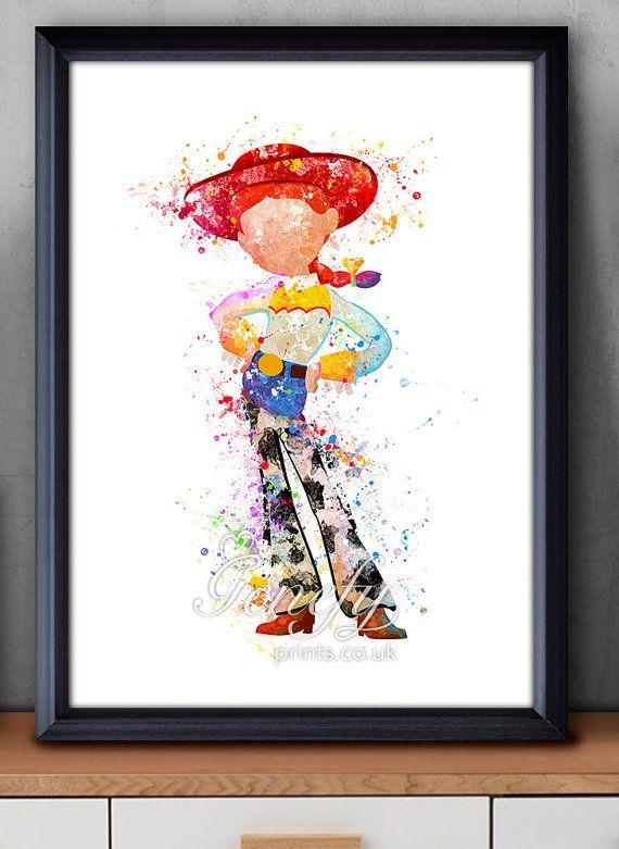 Disney Pixar Toy Story Jessie Watercolor Poster Print Watercolor Painting Watercolor Art