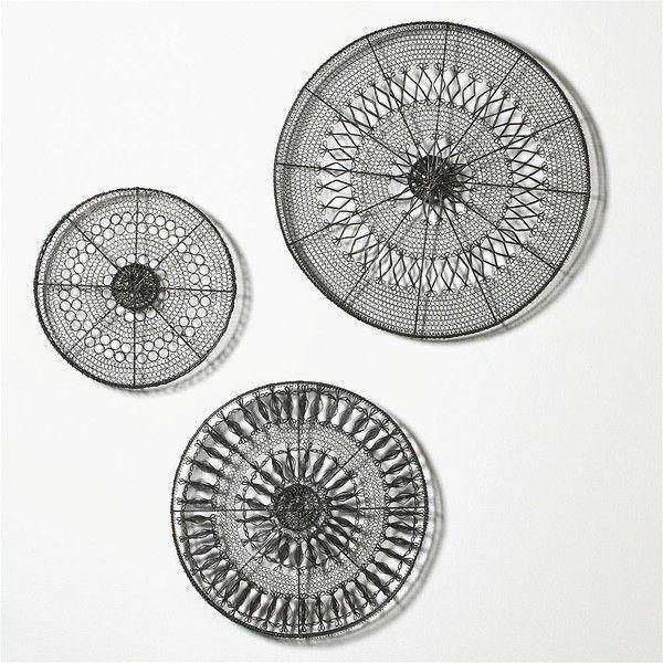 Crate & Barrel 3-Piece Intricate Circle Metal Wall Art Set (€130 ...
