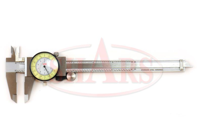 Shock Proof 6 U0026quot  Fractional Dial Caliper 1  64 Or  01