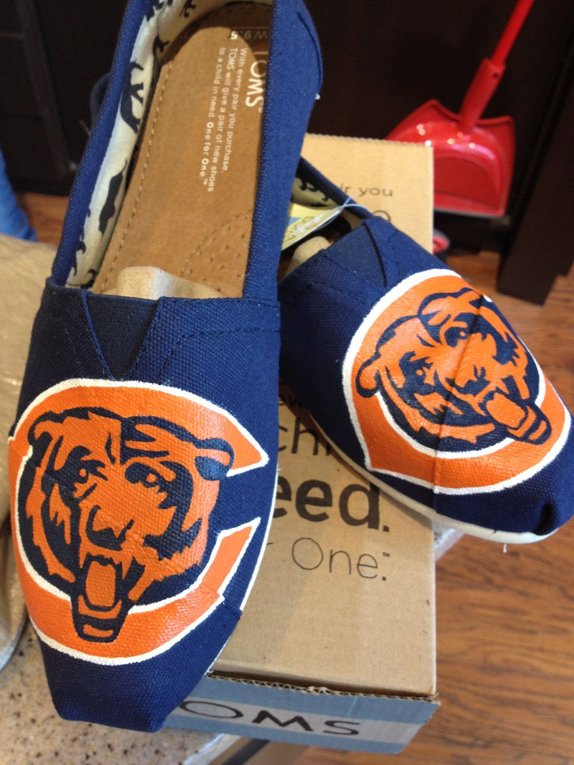 fef5d309 Chicago Bears Inspired TOMS. $125.00, via Etsy. | My Style | Chicago ...