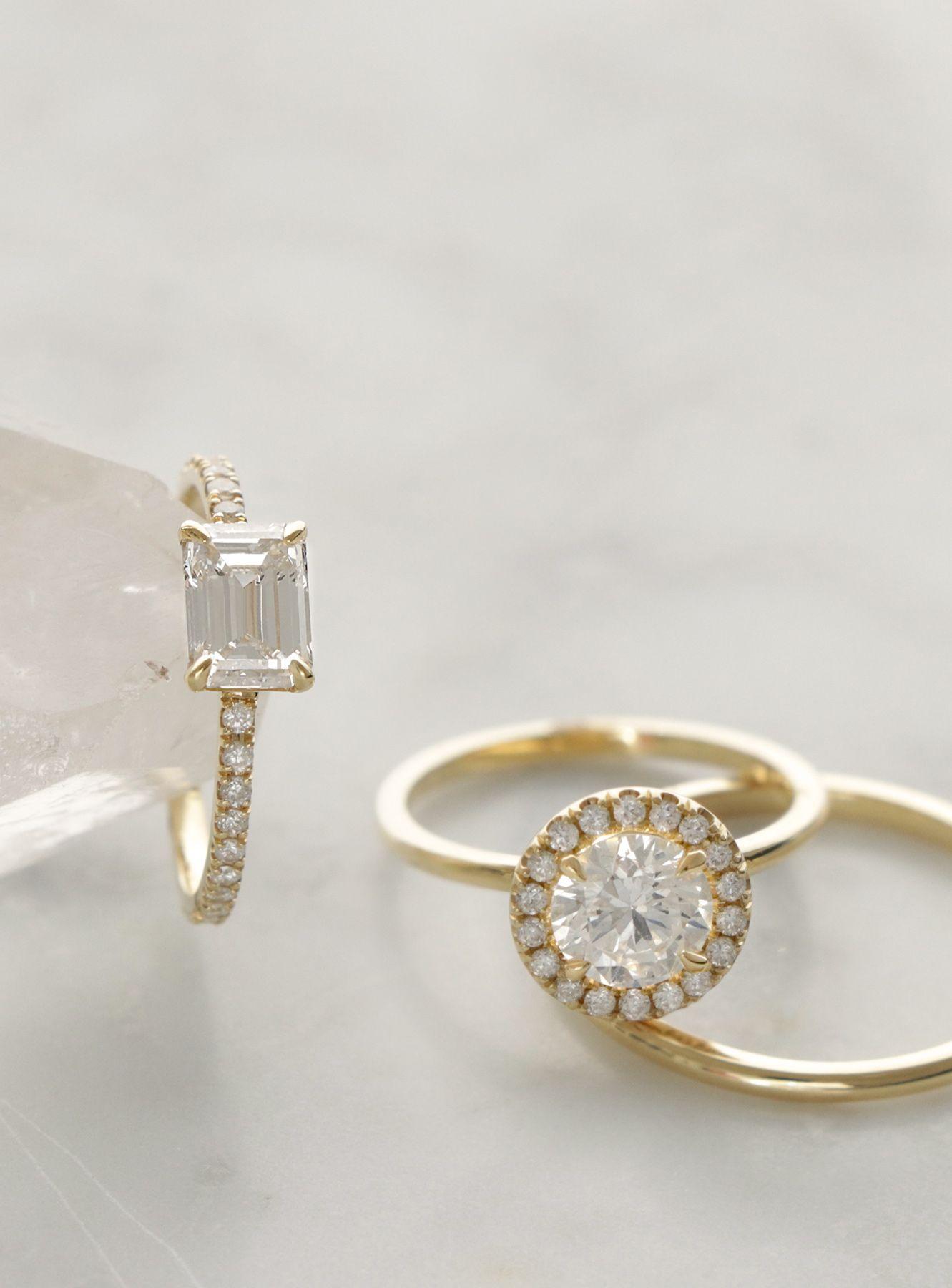 Vow: Vrai & Oro Wedding Simple, Modern Diamond Engagement Rings Conflictfree  Diamonds