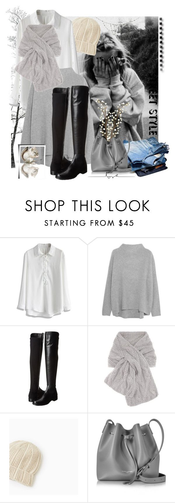 """""""Untitled #1382"""" by hannah353 on Polyvore featuring Chicwish, Vince, Stuart Weitzman, Loro Piana and Lancaster"""