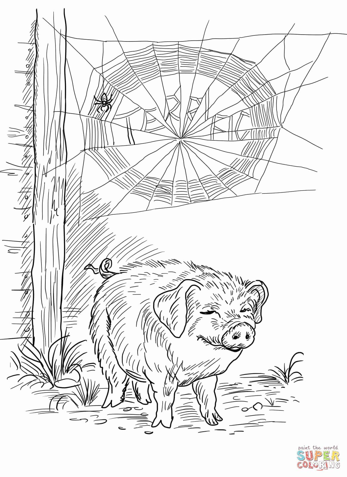 28 Charlottes Web Coloring Page In