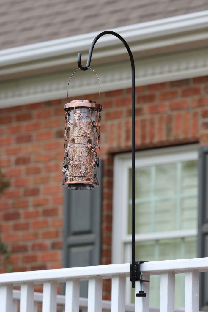 Clamp-On Regular Deck Hanger For Flowers Or Bird Feeder