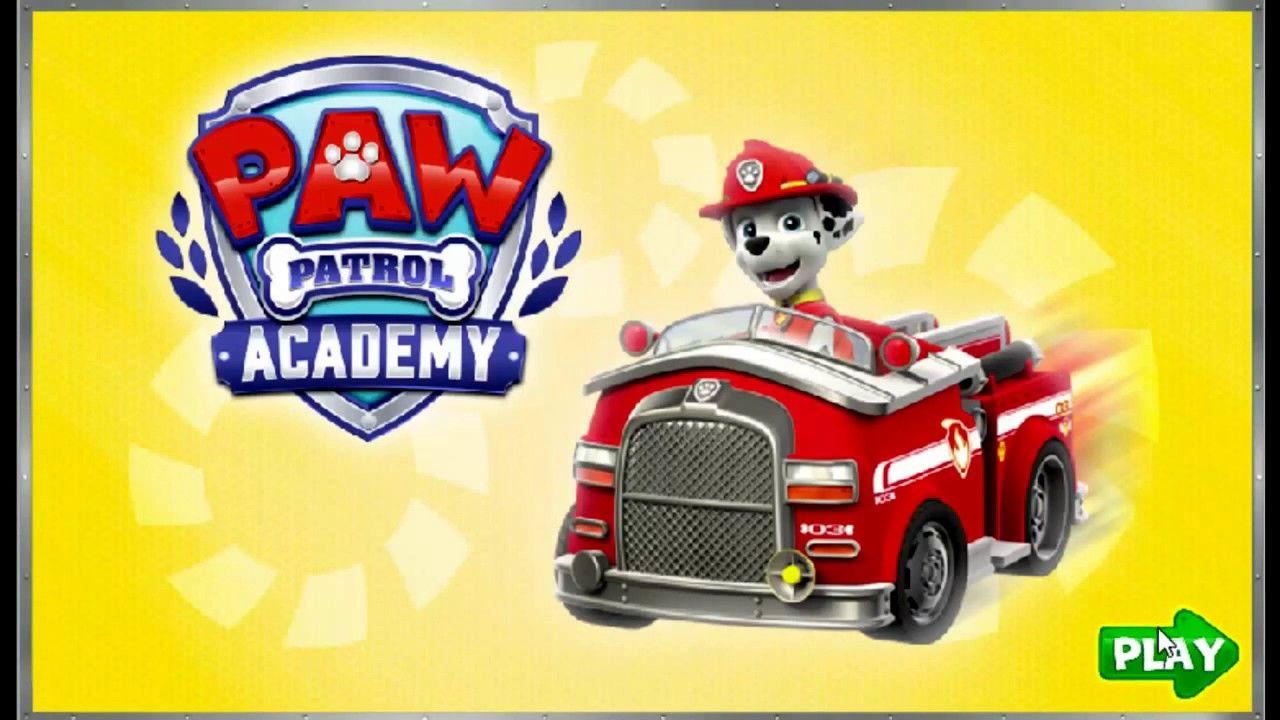 paw patrol games  academy  nickelodeon jr kids game video
