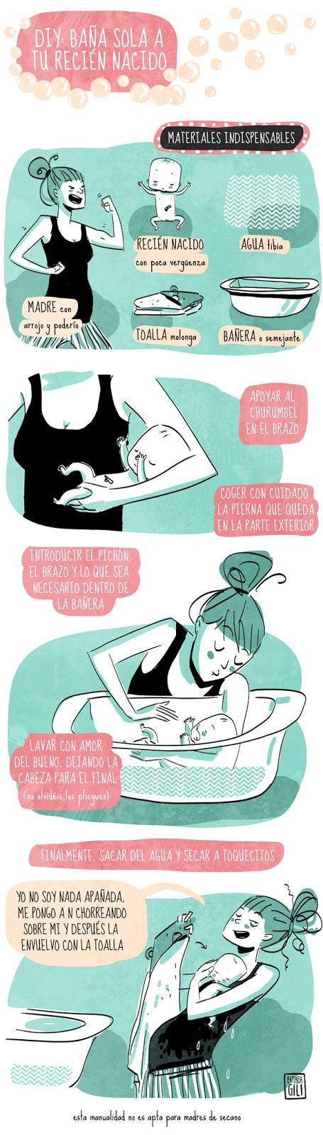 45a880100 Infografia de como bañar a tu bebé http   espaibebe.com