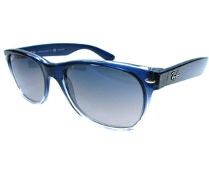Ray Ban Fade Ray Ban New Wayfarer Rb2132 822 78 Polarized Blue Faded Violet Blue New Wayfarer Ray Bans Oakley Sunglasses