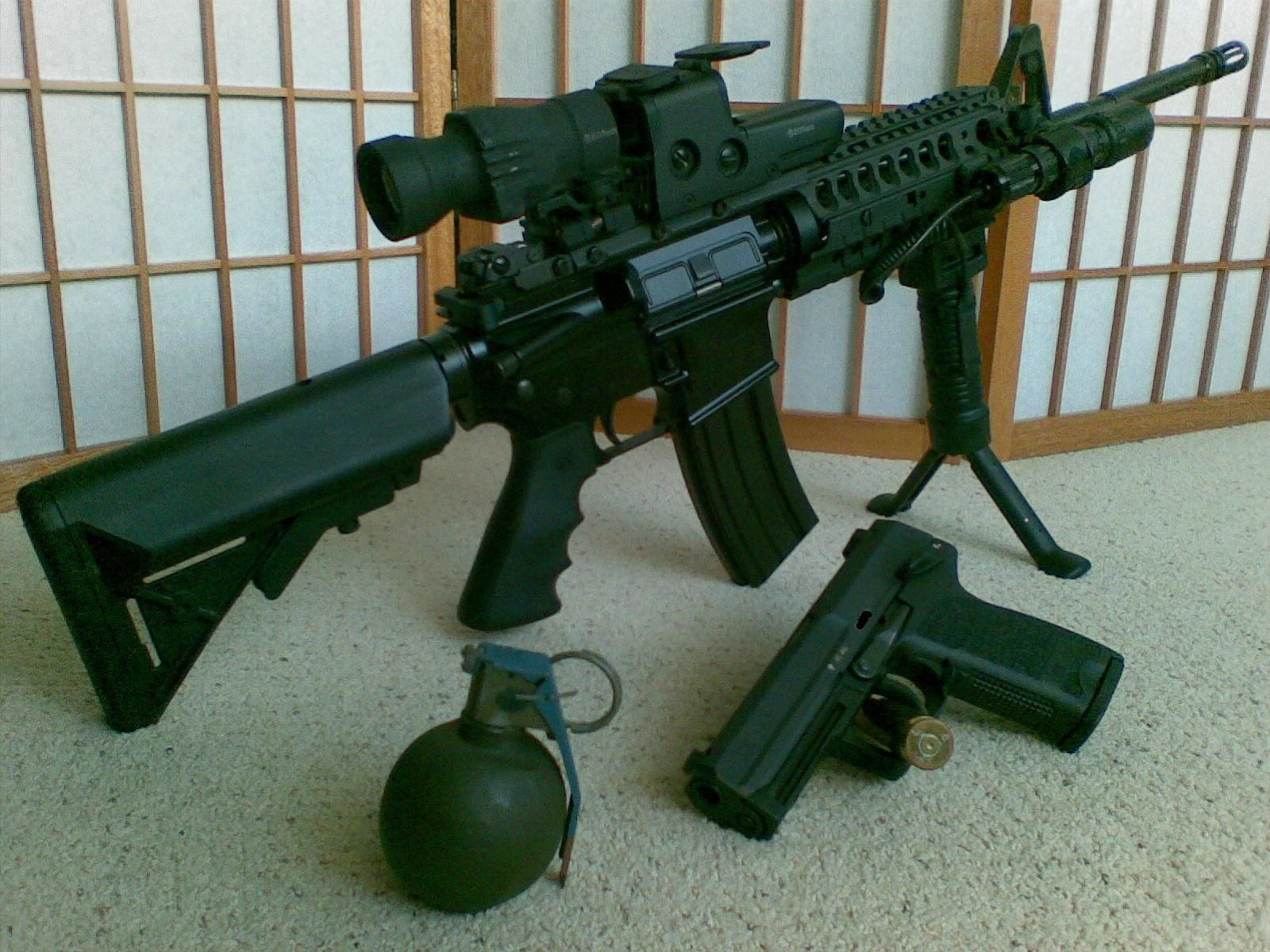 smith and wesson m p 15 eotech 512 and eotech 4x magnifier with fts