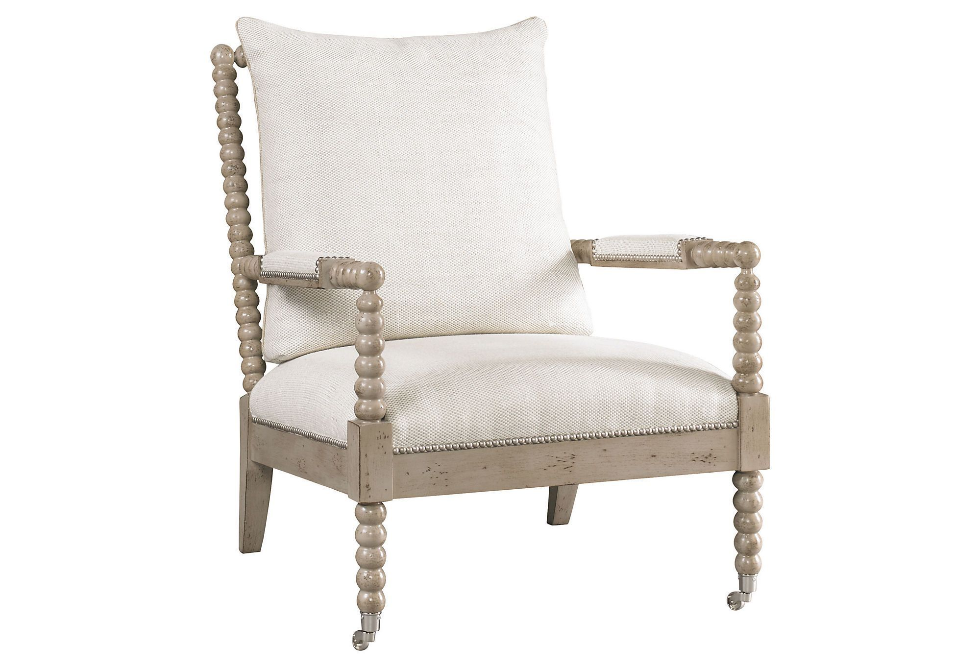 Park Art My WordPress Blog_White Spindle Chair With Blue Cushion