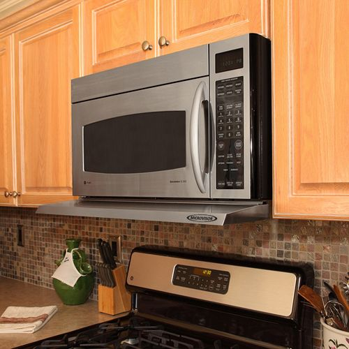 Gallery Video And Pictures Microvisor Removable Mini Hood Extension Microwave Hood Stainless Steel