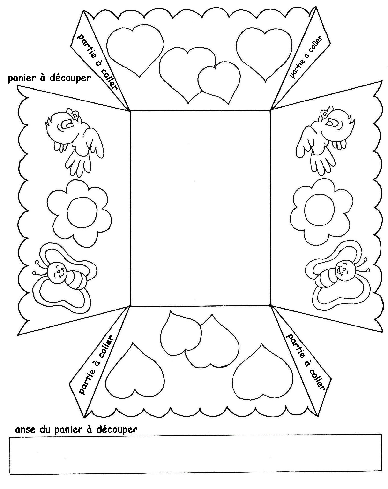 Petit panier pr d cor coloriage pinterest petit panier panier et p ques - Panier de paques a fabriquer ...