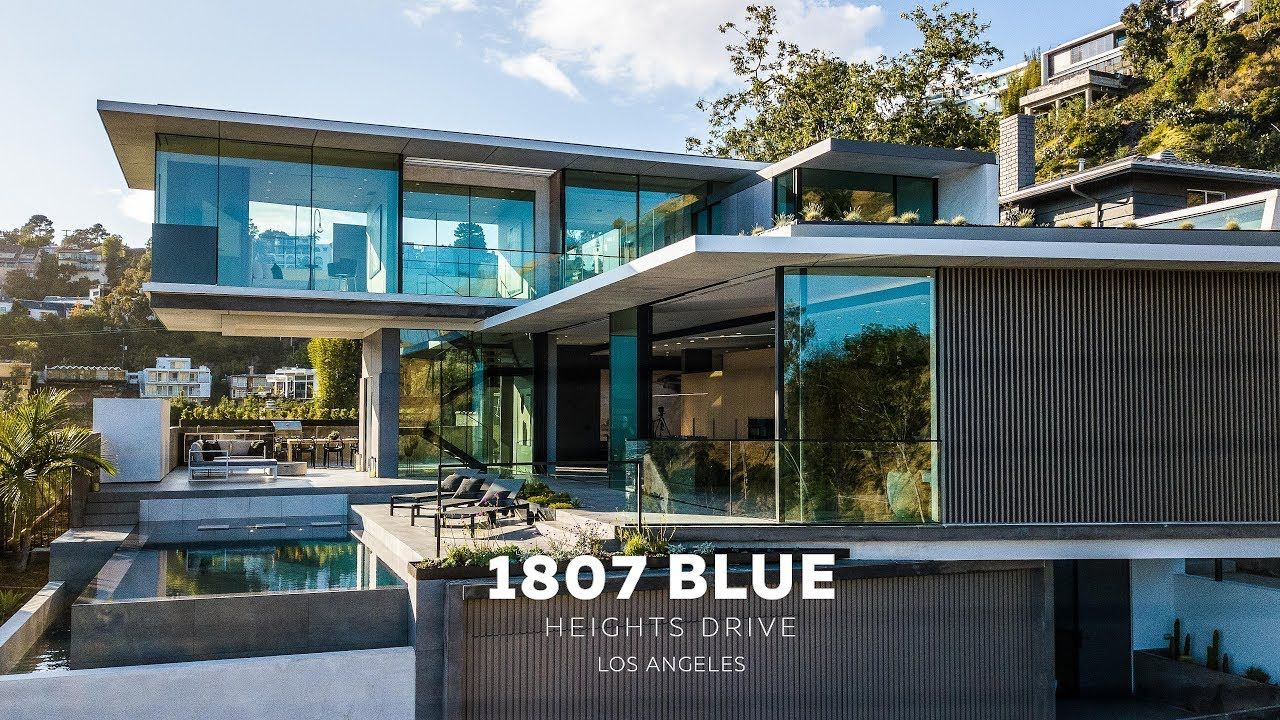 New Modern House Blue Heights Dr Los Angeles 4k Youtube New Modern House Modern House Cool House Designs