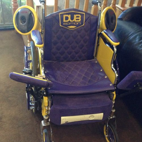 Check out this list of top 15 pimped out wheelchairs. These tricked out wheelchairs may give you a few ideas of how you can customize your own chair.