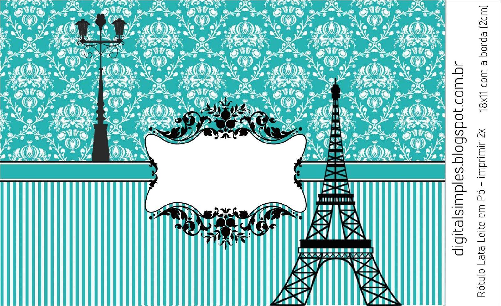Festa Aniversario Paris Tiffany Com Rotulos Caixinhas Convites C Varios Personalizados