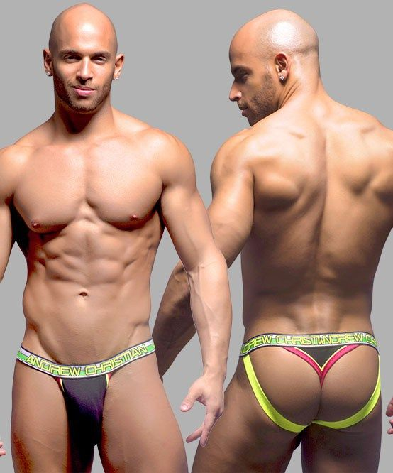 Jockstrap Tanga Andrew Christian Almost Naked w/ Show-It Preto - 19,99€
