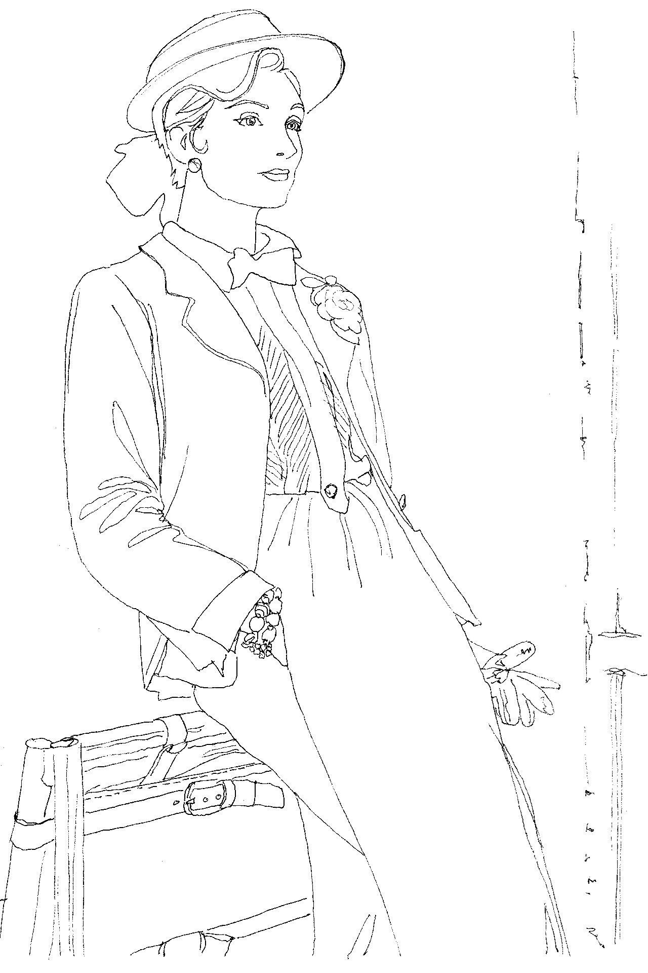 Introducing The Vogue Colouring Book Fashion Sketch Pinterest