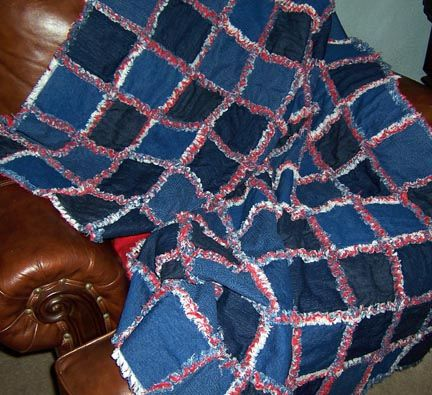 Blue Jean Rag Quilt | Rag quilt, Christmas gifts and Blue jean quilts : blue jean rag quilt - Adamdwight.com
