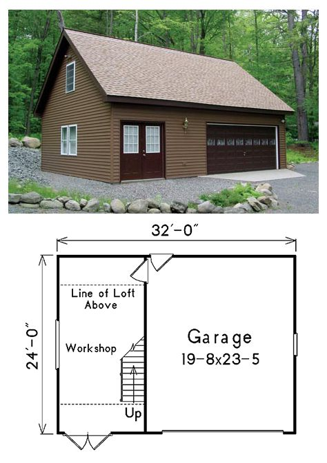 2 Car Garage Plan Number 87824 Garage Plan Garage Building Plans Garage