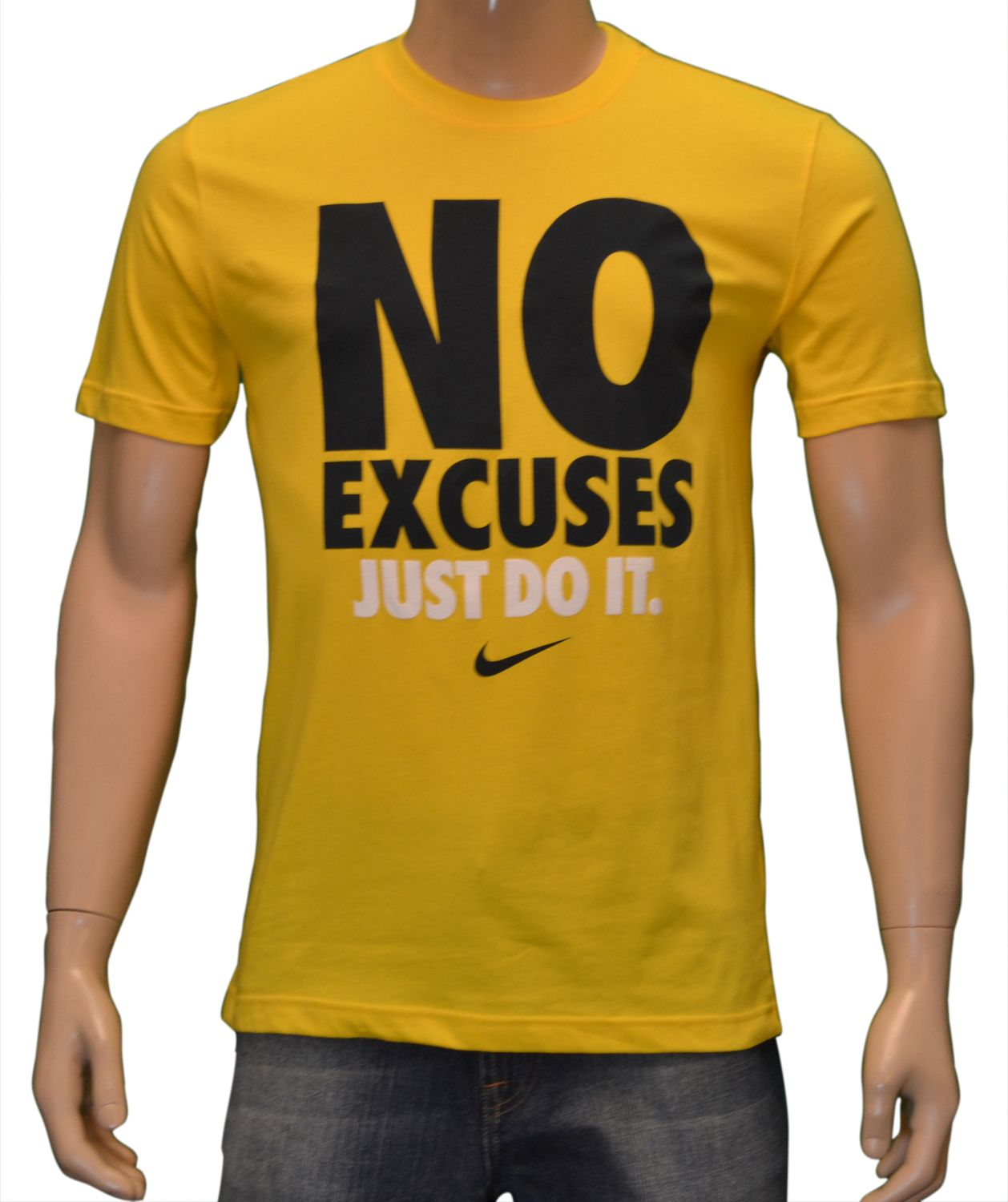 Details about Nike Men's NO EXCUSES JUST DO IT Shirt Yellow