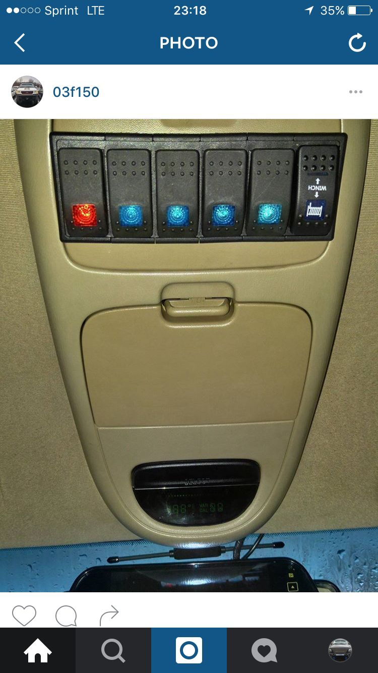 switch panel for all my led s 97 03 f150 ford excursion ford 4x4  [ 750 x 1334 Pixel ]