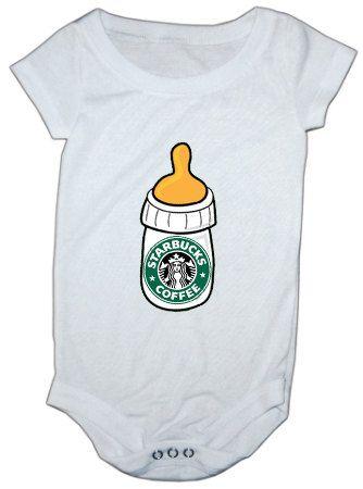 5708d4b2 Starbucks bottle baby onesie by LuluBellababyTrends on Etsy, $16.99 ...