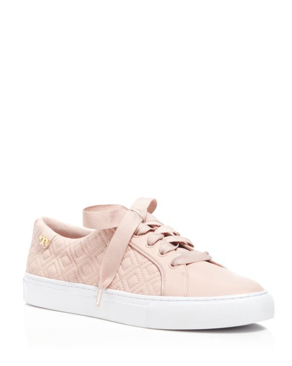 2773c94e377082 Tory Burch Marion Quilted Lace Up Sneakers