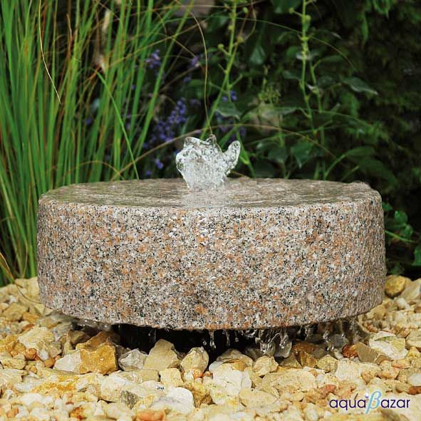 Fuente Rueda De Molino Granito Mebner Fuentes Jardin Exterior - Fuentes-exterior