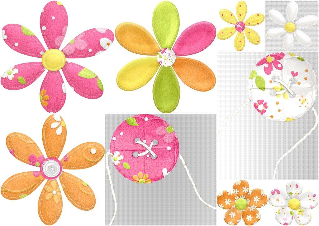 Flores y Botones del Clipart Pascua en Primavera. | Técnicas ...