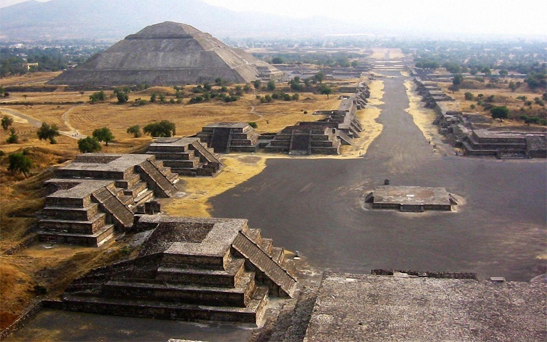 Teotihuacan Mexico Teotiuakan Mesta Dlya Posesheniya Yuzhnaya Amerika