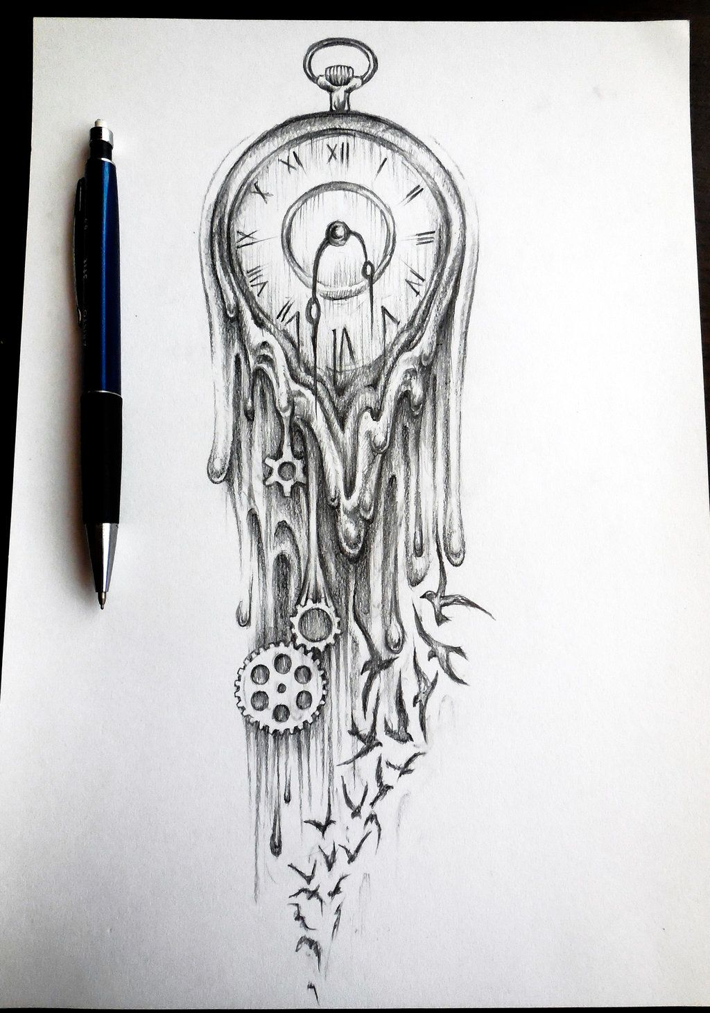 Hourglass drawing  Time flies by bobby79.deviantart.com on @deviantART | Artistique ...