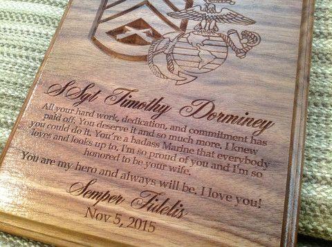 Custom Plaque 8x10 - Larry's Woodworkin' | USMC - Marine ...