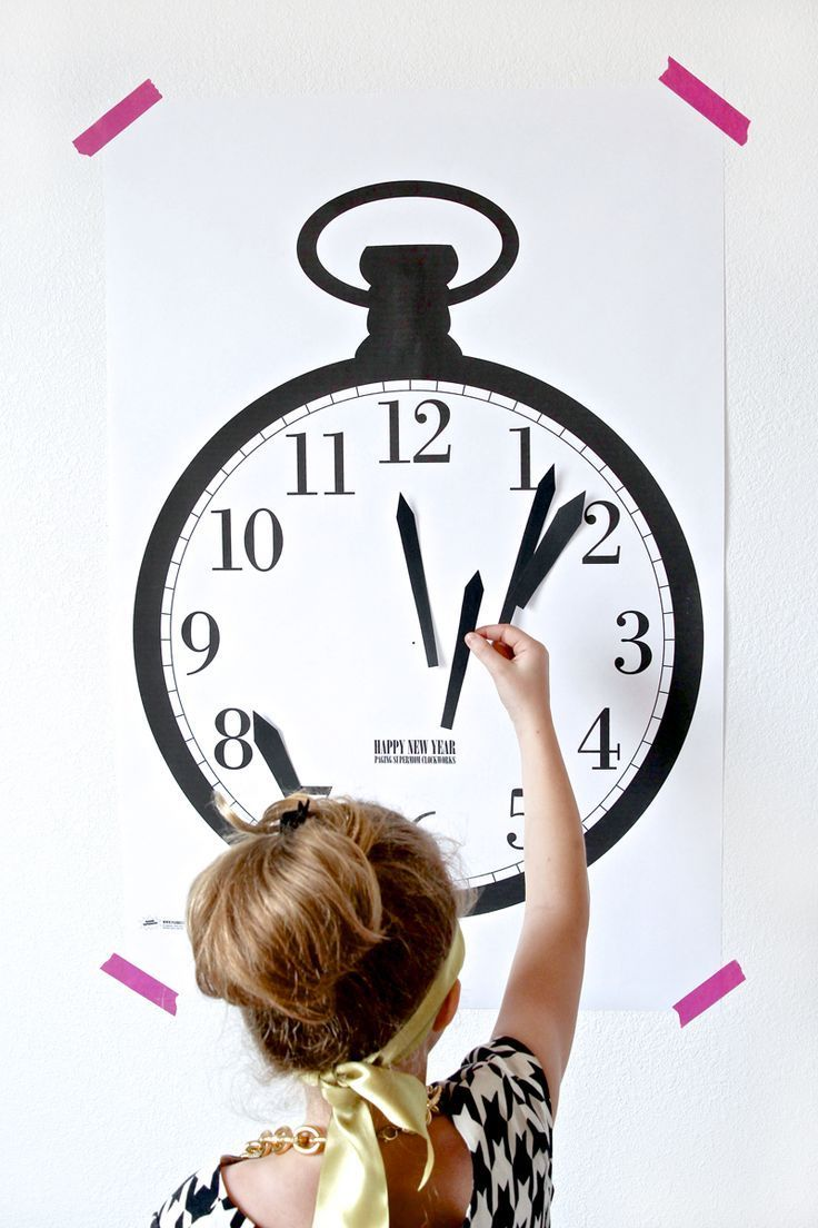 Family-Friendly New Year\'s Party Ideas | Pinterest | Clock games