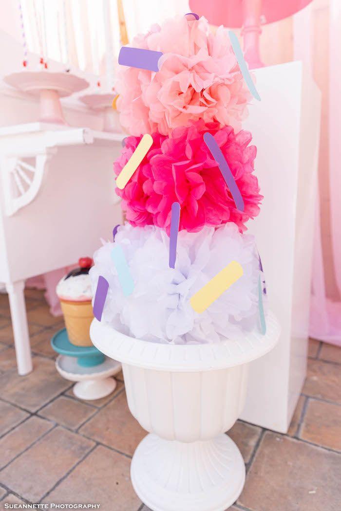Pastel Ice Cream Shop Birthday Party | Kara's Party Ideas #icecreambirthdayparty