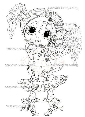 INSTANT DOWNLOAD Digital Digi Stamps Big Eye Big Head Dolls Digi ...