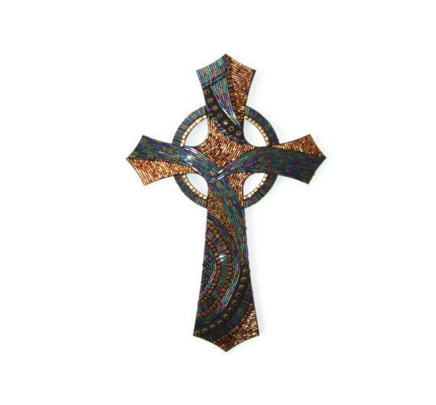 Beaded Mosaic Cross decorative cross Celtic cross contemporary ...