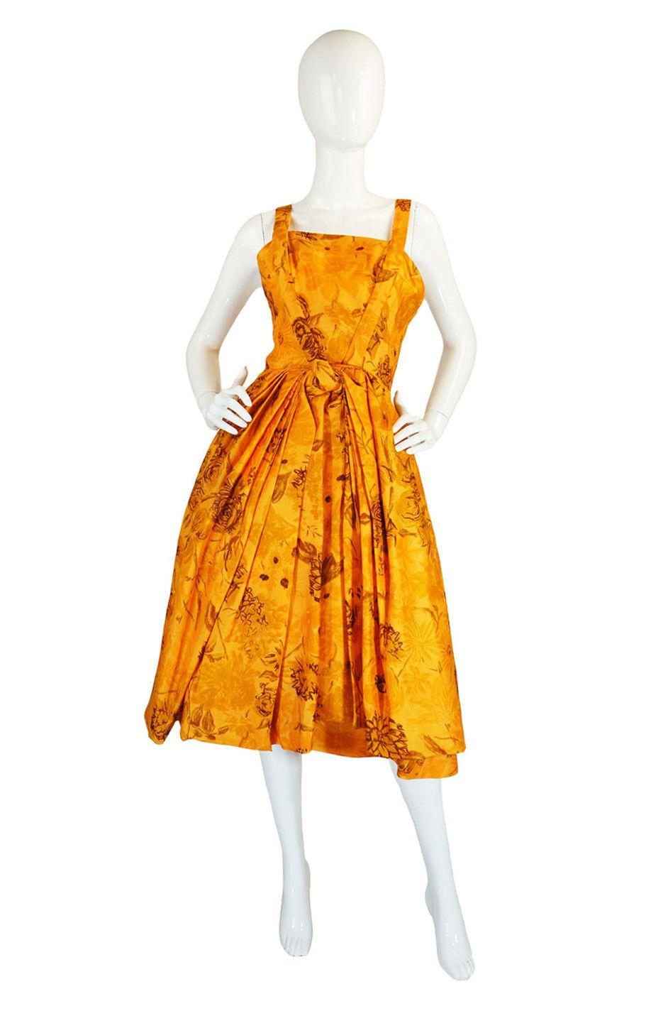 1950s Draped Silk Suzy Perette Dress