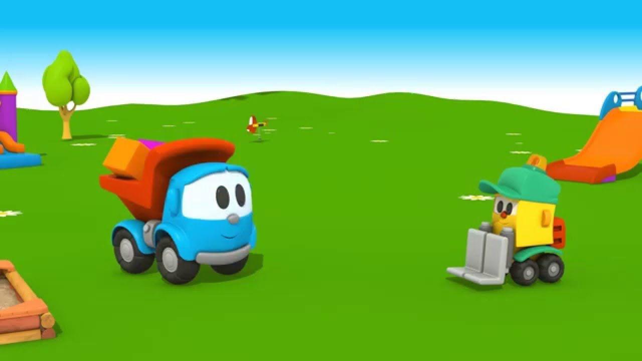 Cartoni animati per bambini camioncino leo junior e lifty il