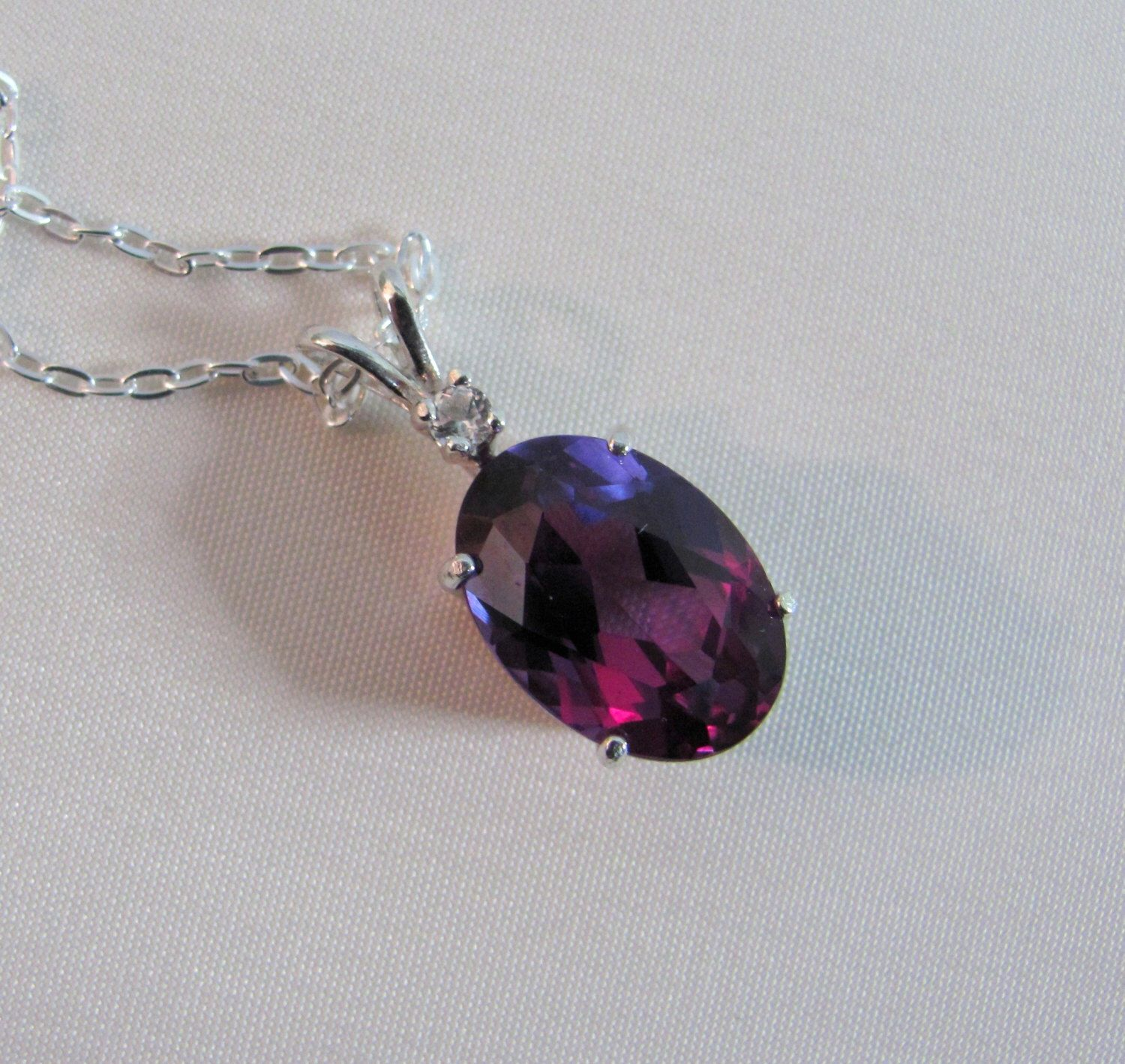 heart and puffy woven swarovski crystal silver in progress products sterling alexandrite necklace