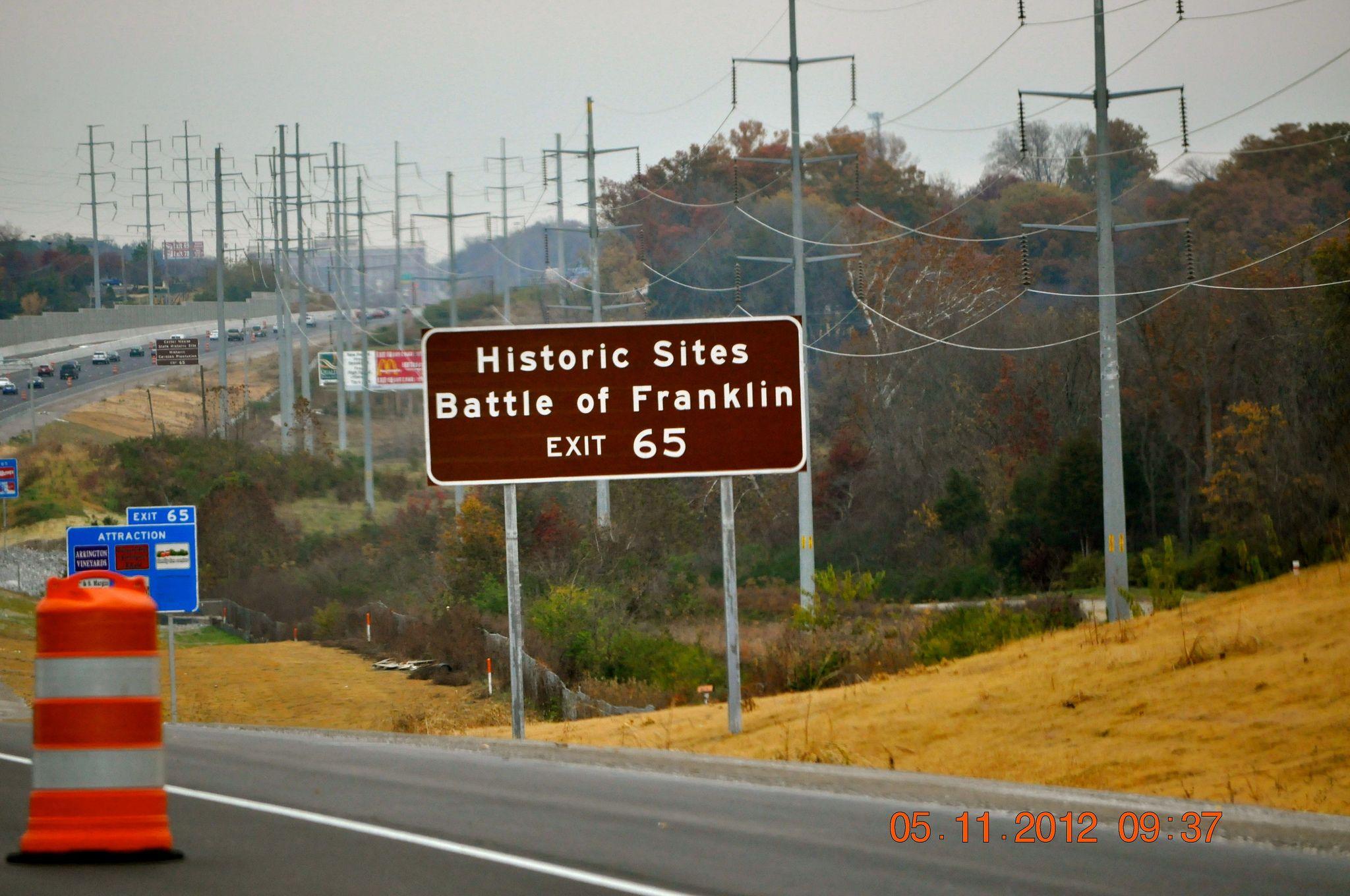 Historic sites battle of franklin exit 65 historical