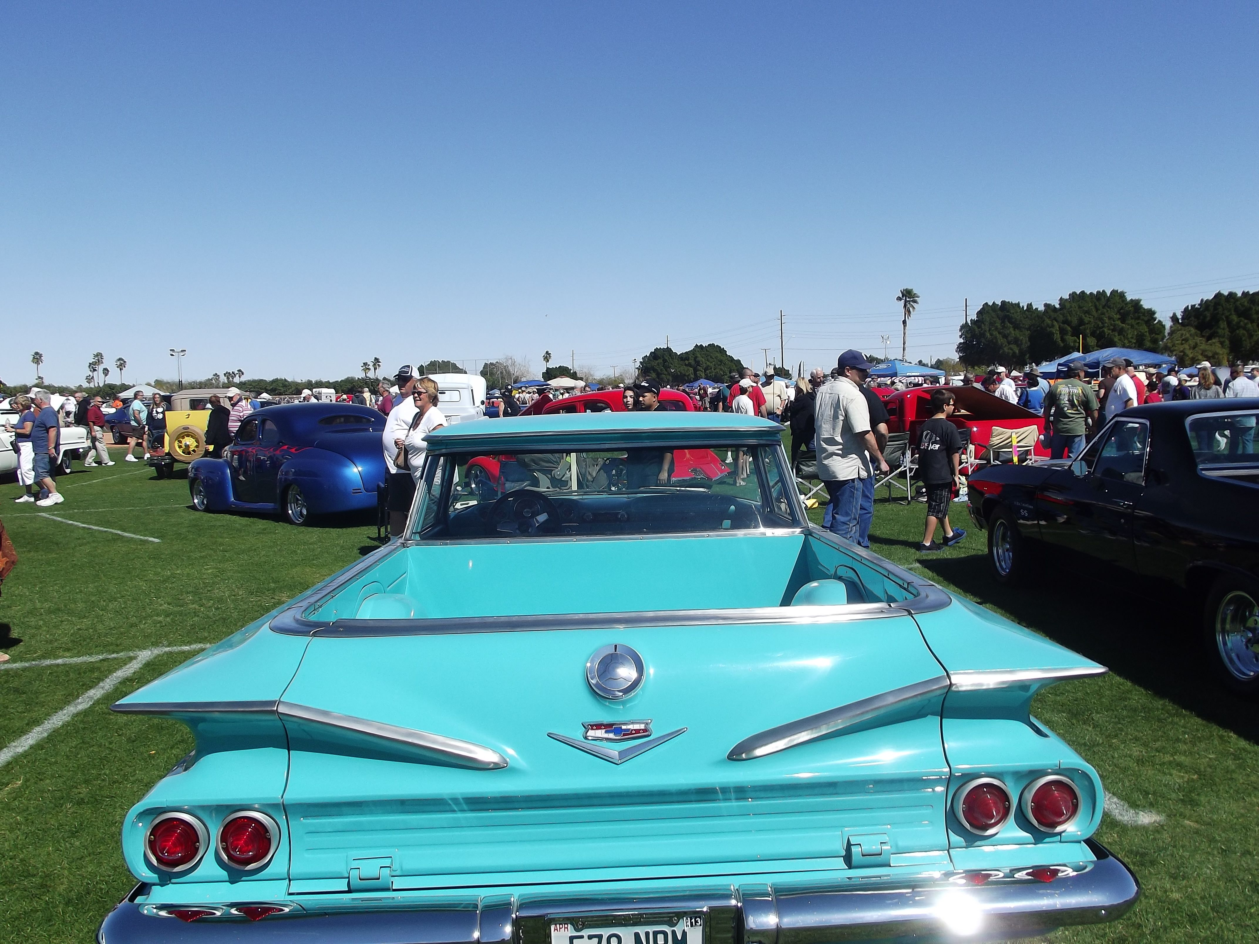 60 Chevy El Camino Midnight The Oasis Yuma Az Blue Car Classic Cars Chevy El Camino