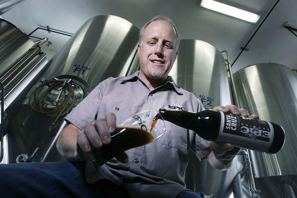 "Epic co-founder David Cole pours a ""Santa Cruz Brown."" (Scott Sommerdorf      The Salt Lake Tribune)"