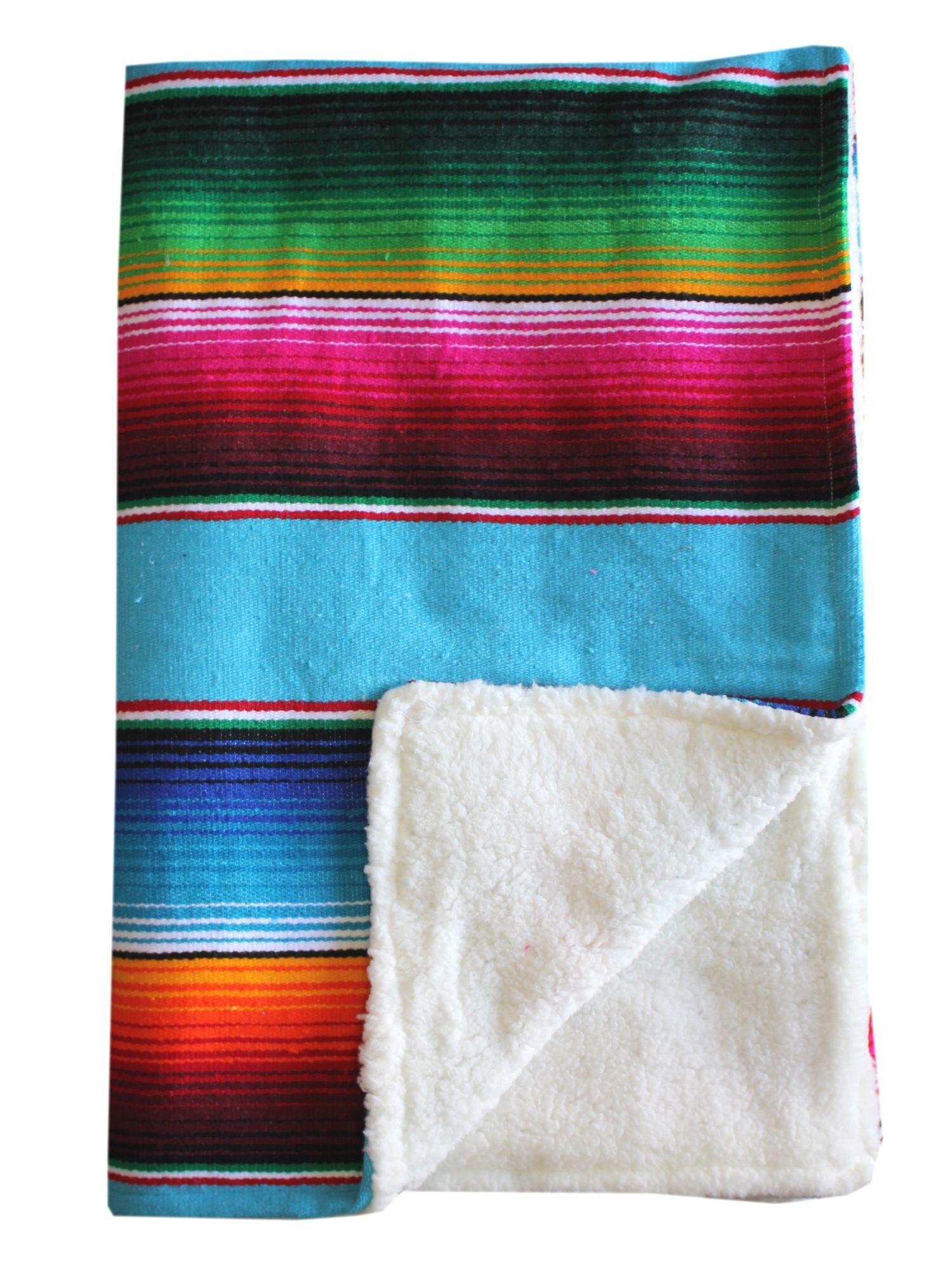 Baja Baby™ Mexican Serape Baby Blanket -Turquoise | Blanket ...
