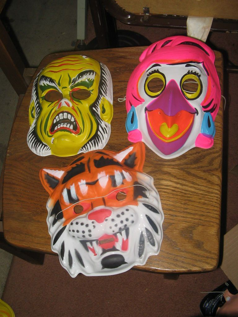 Halloween Mask 1 Item Unused 1980 Psychedelic Birdgirl