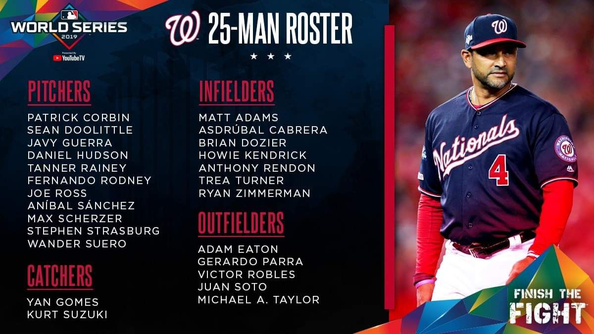 Washington Nationals World Series Roster With Images Anibal Sanchez World Series Washington Nationals