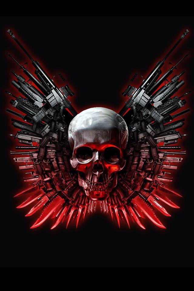 Expandables skull | Skull pictures, Skull wallpaper ...