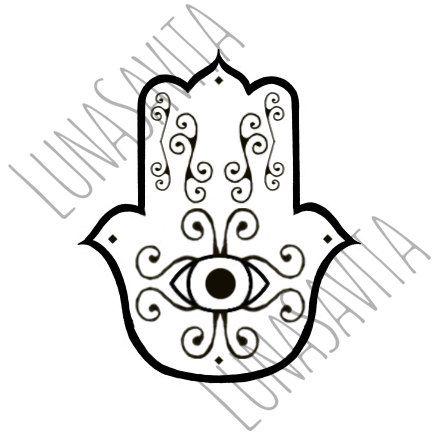 hamsa  hand of fatima svg and dxf for cricut design space