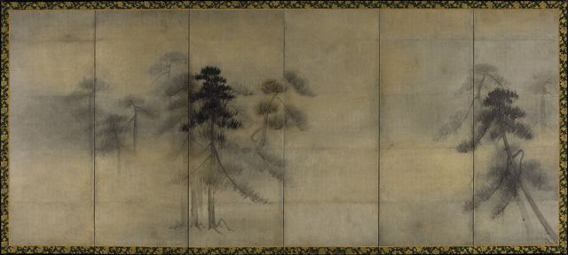 """Pine Trees In Moonlight,"" Attributed To Hasegawa Tohaku"