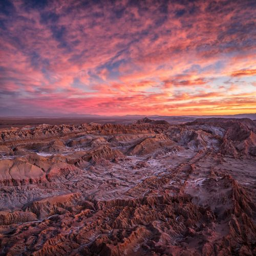 Sunset at Moon Valley in the Atacama Desert. Photo by Ignacio Palacios.